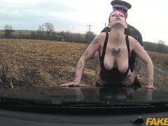 Cumshot, Monster cock, Big cock, Vagina, Oral, Cock, Couple, Redhead, Blowjob, Tattoo, Big tits, Outdoor, Cum, Caucasian, Car, High definition, Tits, Police, Sex