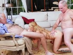 Old and young, Teen, Old, Young, Fucking, Dad and girl, Horny, Adorable, Blonde, Old man