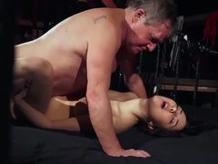 Sex, Daddy, Hardcore, Old man, European, Young, Old, Blowjob, High definition, Not sister, Brunette, Lick