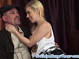 Old and young, Teen, Piercing, Cowgirl, Foreplay, Grandfather, Young, European, Babe, Oral, Riding, Old, Amateurs, Old man